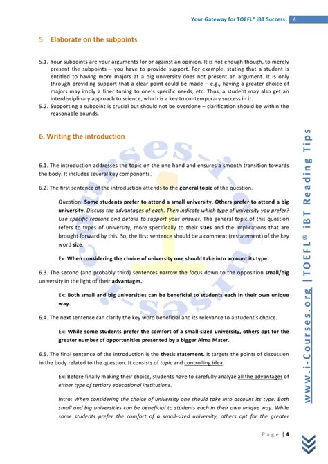 toefl writing template independent guide to writing a toefl essay independent task