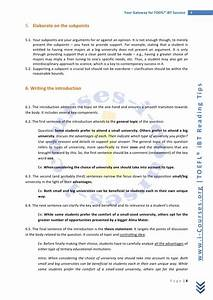 toefl writing essays samples tinpaniavocbapl With toefl writing template independent