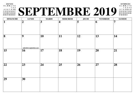 septembre  calendrier   calendar