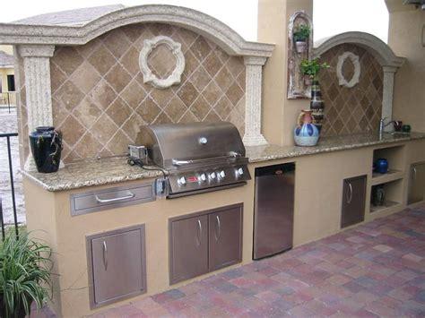 outdoor grill island backsplash  custom outdoor