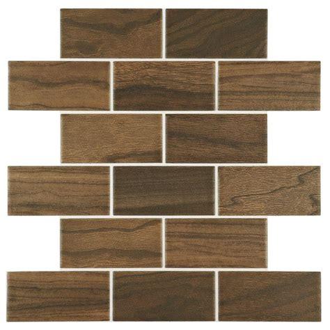 daltile parkwood brown       mm ceramic brick