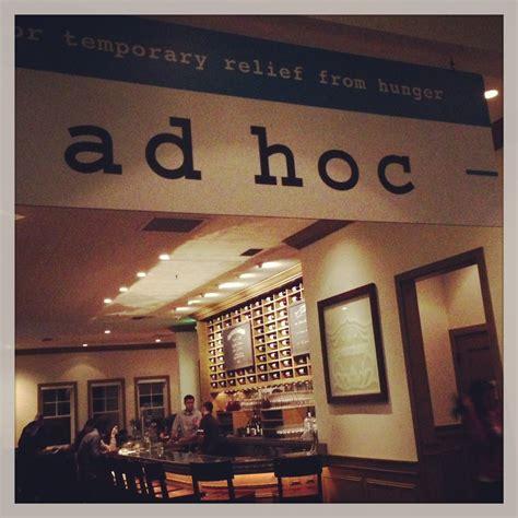 ad hoc restaurant alice dishes
