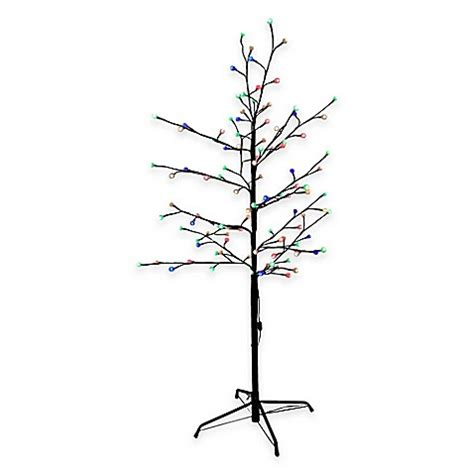 buy kurt adler 4 foot pre lit gumball brown twig christmas