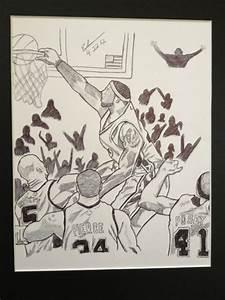 New Lebron James Miami Heat Nba Game Play Dunk Drawing