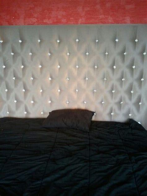 blinged  headboard   bedroom decor home