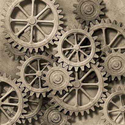 Gears Steampunk Mechanical Cogs Background Drawing Gear