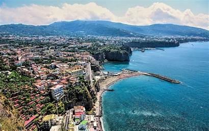 Sorrento Sea Coast Summer Buildings Italy Resolution