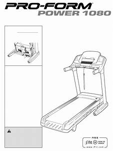 Download Proform Treadmill 1800 Manual And User Guides