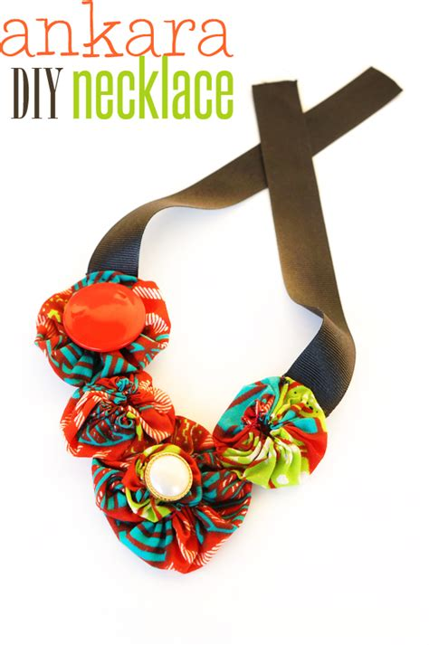 Diy  African Infused Fabric Necklace