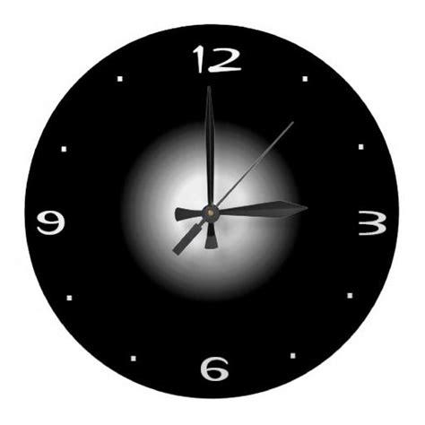 plain black  white kitchen clock