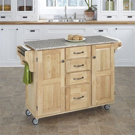 kitchen island cart marble top wood island cart with salt and pepper granite top 8154