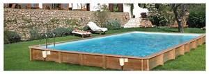 Piscine Enterrée Rectangulaire : weva piscine bois rectangulaire par procopi piscine center net ~ Farleysfitness.com Idées de Décoration