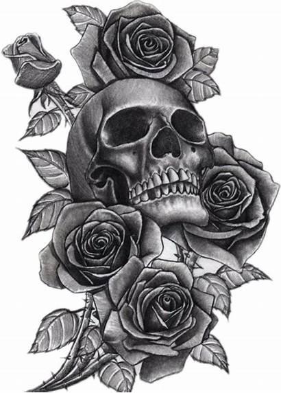 Tattoo Neck Skull Tattoos Sleeve Clip Roses