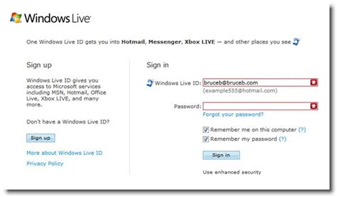 passwords accounts and windows live id bruceb news