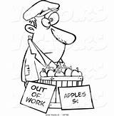 Homeless Cartoon Apples Sell Coloring Vector Person Clipart Trying Poor Drawing Outlined Leishman Ron Royalty Getdrawings Broke Unemployed Graphic sketch template