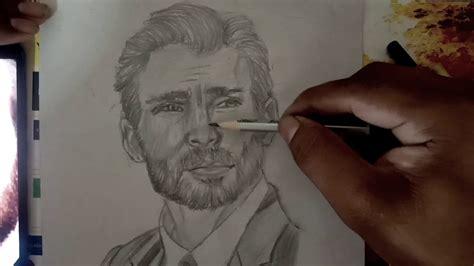 Chris Evans pencil Portrait - YouTube