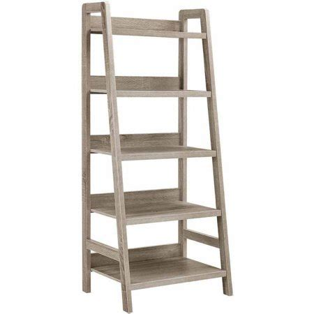 walmart ladder shelf linon tracey ladder bookcase grey 5 shelves walmart