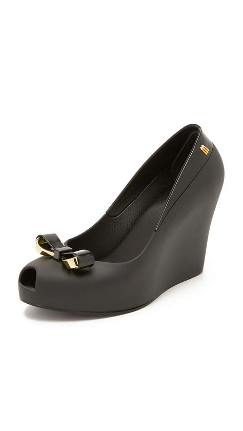 melissa queen ii wedges  black lyst