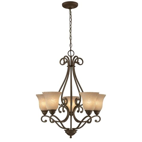 foyer chandeliers lowes shop portfolio 5 light linkhorn iron chandelier at