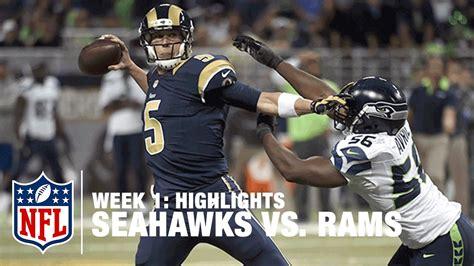 seahawks  rams week  highlights nfl   youtube