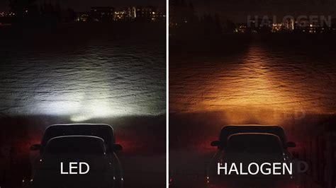 halogen light vs led led vs halogen headlight bulbs youtube
