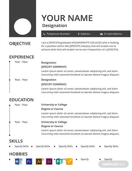 Free Blank Resume Templates by 11 Free Basic Resume Templates In Microsoft Word