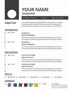 10  Free Basic Resume Templates