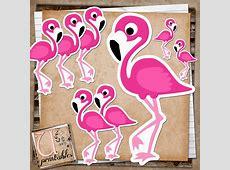RebeccaB Designs FREE Printable Flamingo Print and Cut