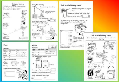 mathematics grade 3 volume mass worksheet teacha