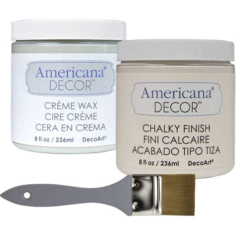 americana decor chalky paint and wax lace upcycling