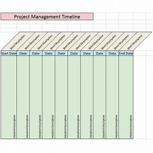 Sample Project Management Timeline Templates For Microsoft
