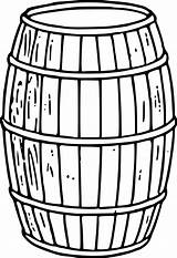 Clipart Keg Cliparts Clip Library Barrel sketch template