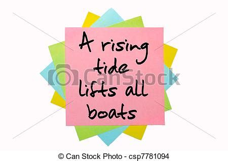 A Rising Tide Lifts All Boats Deutsch by Stock Photo Of Text Quot A Rising Tide Lifts All Boats