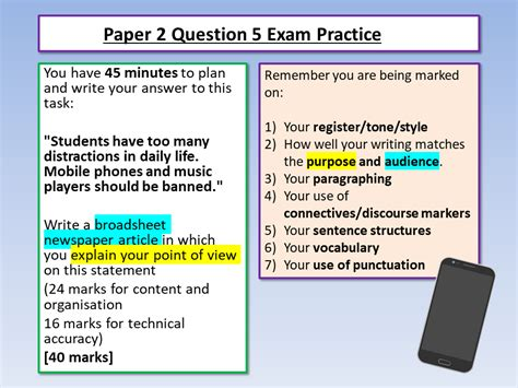 It's all here feel free to add resources to the thread as well as anything that may be helpful to others English Language Paper 2 Question 5 Example Answer ...