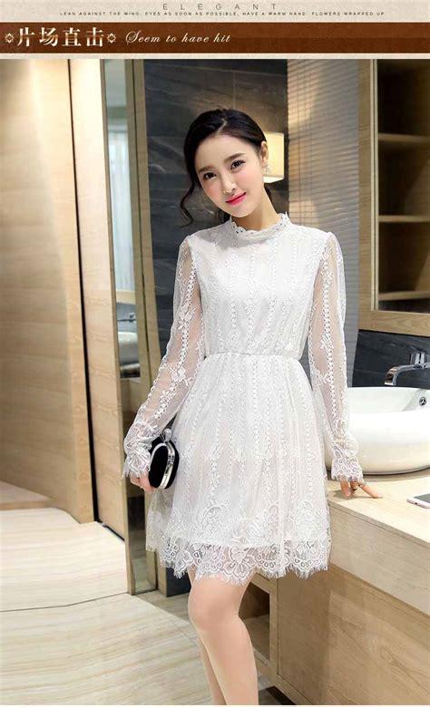 dress putih brokat motif cantik myrosefashioncom