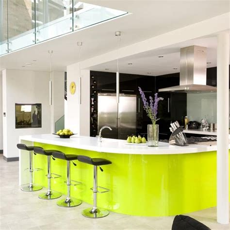 black and lime green kitchen 35 eco friendly green kitchen ideas ultimate home ideas 7837
