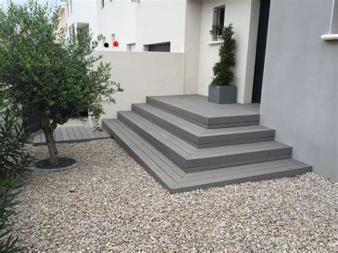 atelier de cuisine montpellier escalier extèrieur composite gris