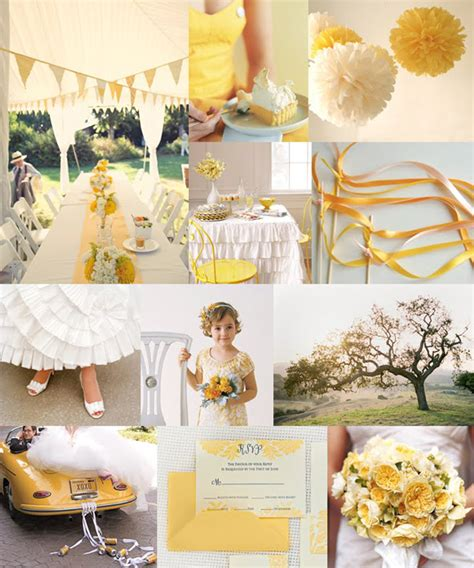 inspired by these yellow wedding details inspired by this