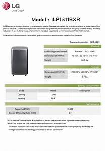 Download Free Pdf For Lg Lp1311bxr Air Conditioner Manual