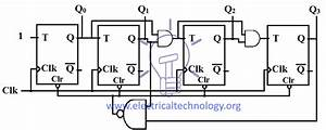 Mod 10 Ripple Counter Circuit Diagram