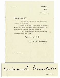 lot detail winston churchill letter signed 3939i will With churchill letters