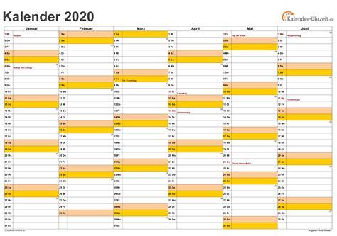 kalender excel kalender