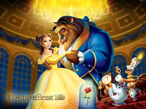 Beauty And The Beast Cartoon Background Image For Nexus 6