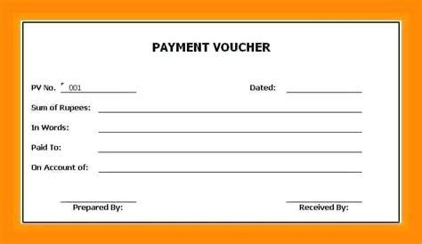 receipt format  cash payment voucher receipt sample