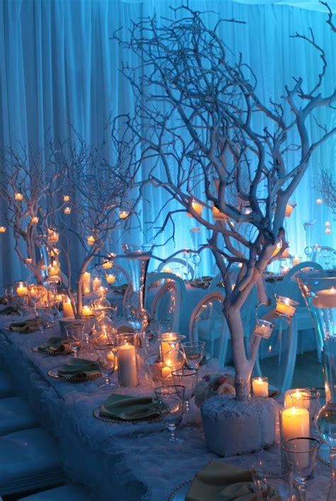 winter wonderland wedding candles christmas wedding