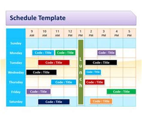 Time Schedule Template Powerpoint by Schedule Template For Powerpoint