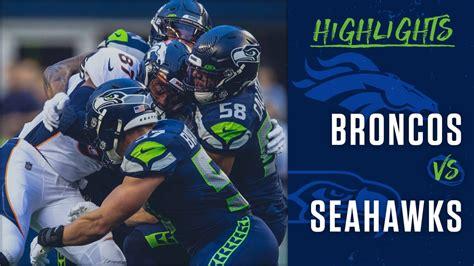 preseason week  seahawks  broncos highlights