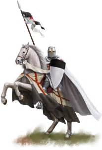 Templar Knight On Horse