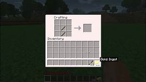 Minecraft - How To Make a Golden Shovel - YouTube