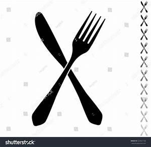 Fork Knife Black Vector Icon Ten Stock Vector 523927156 ...